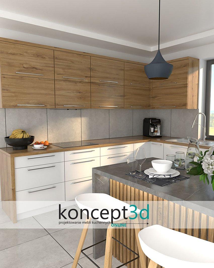 Dąb Odwieczny w meblach kuchennych | aranżacje koncept3d Kraków