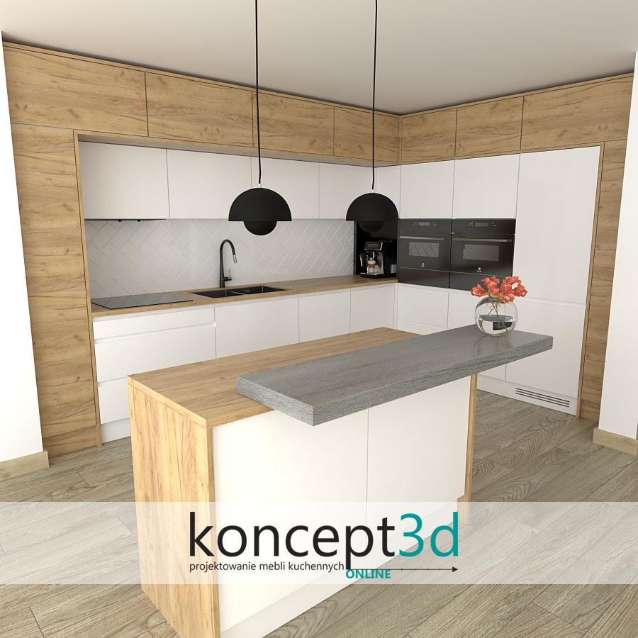Aranżacje mebli kuchennych Kraków | koncept3d