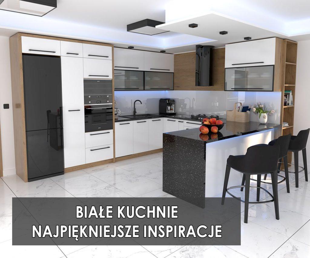 Białe kuchnie inspiracje   koncept3d projekty mebli kuchennych Biertowice