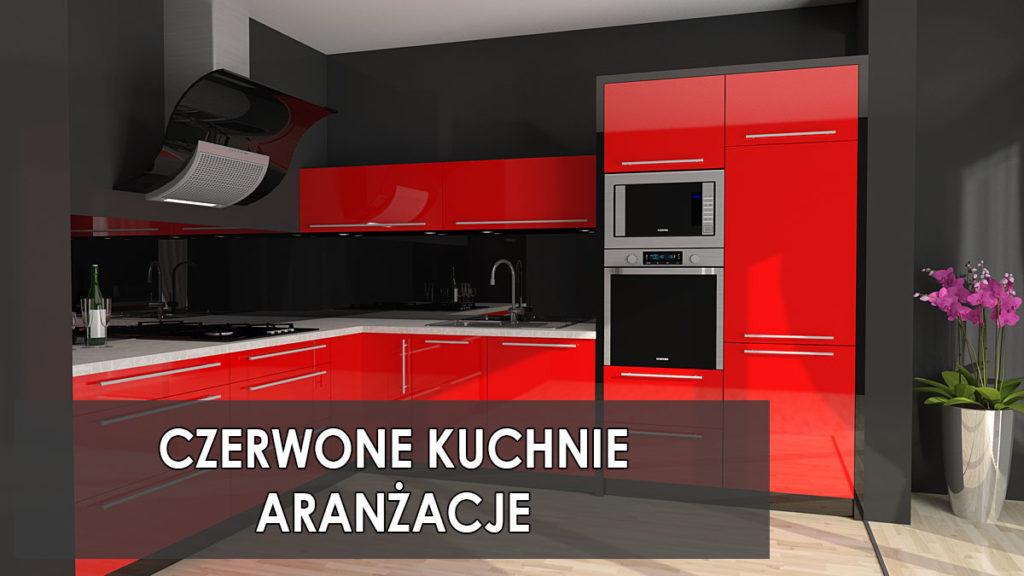 Czerwone kuchnie aranżacje   koncept3d projekty kuchni