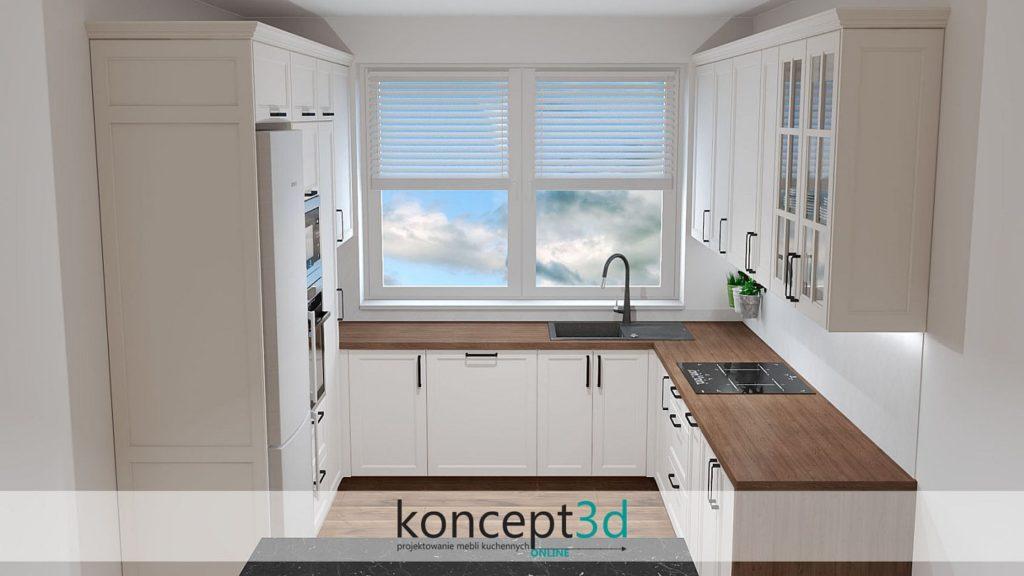 Drzwi ramiak w meblach kuchennych | inspiracje kuchenne koncept3d