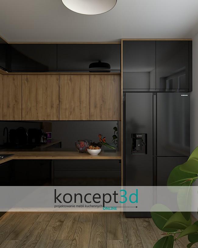 Dąb Odwieczny z czarnym i lacobelem | koncept3d projekty mebli kuchennych