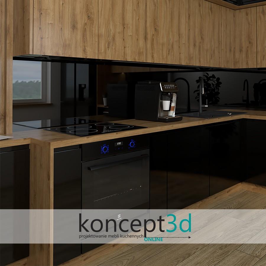 Blat Laminowany Dąb Odwieczny w meblach kuchennych | koncept3d projekty kuchni ONLINE