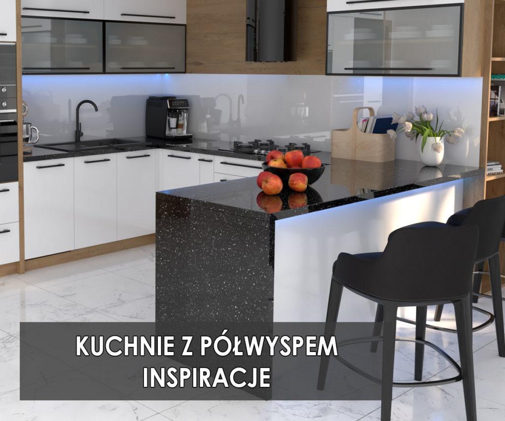 Kuchnia z półwyspem | koncept3d projekty kuchni