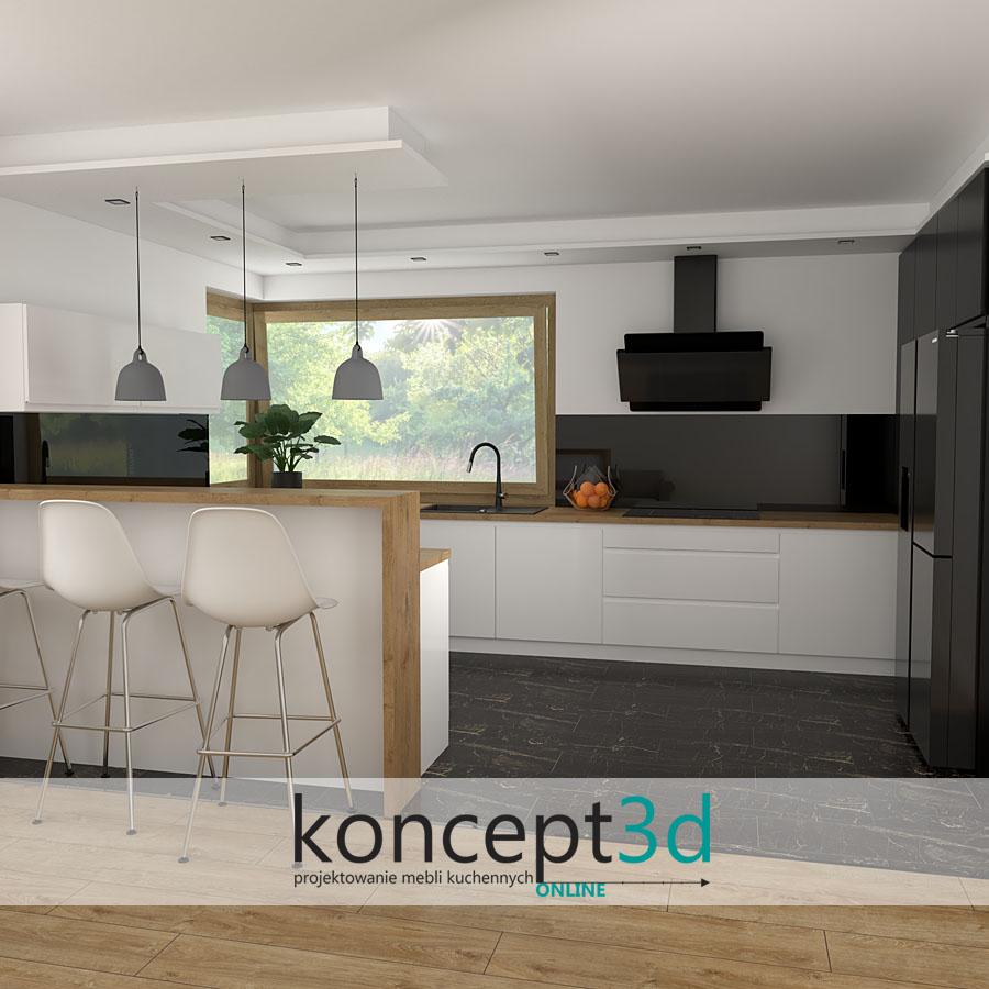 Piękny półwysep z ladą | koncept3d inspiracje kuchenne