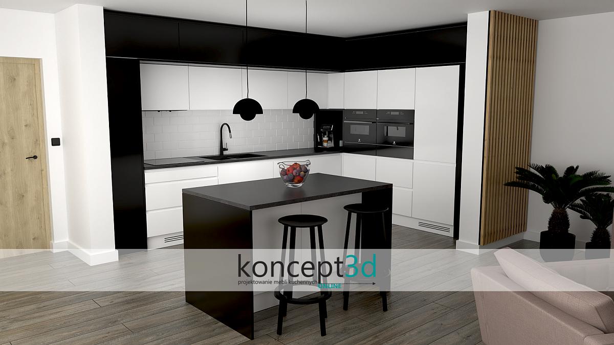 Индивидуальная кухня с островом |  concept3d